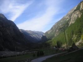 Switzerland - Bus ride from Taesch to Brig-001